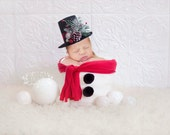 Instant Download Photography Prop DIGITAL BACKDROP for Photographers -Christmas Holiday Frosty the Snowman - Digital Background