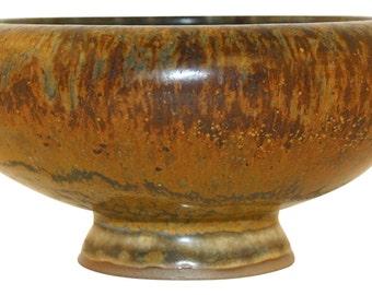 Nymolle Denmark Pottery Pedestal Bowl (Bruehl)