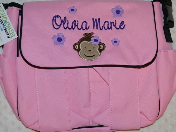 Personalized Baby Diaper Bag  embroidered Many Designs Pink LAST ONE