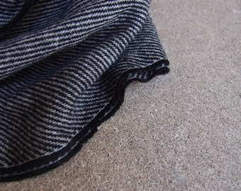 Vintage Fabric Tweed Wool Suiting Black Gray Grey Four Yards YARDAGE Sewing Supplies