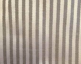 Taupe Satin and Beige Striped Fabric