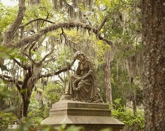 Savannah Georgia Angel Art, Fine Art Photograph Print, Affordable Home Decor, Bonaventure Cemetery Wall Art, Angel Print