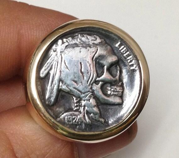 Buffalo Nickel Ring Gold