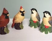 Vintage Lenox Bird Salt and Pepper Sets - Cardinals and Chickadees