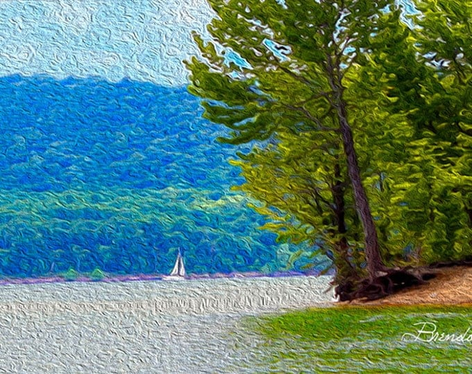 Kentucky, Sailboat on Cave Run Lake Morehead, Fine Art Print on Paper or Canvas