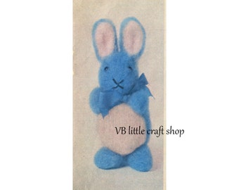 Bunny rabbit knitting pattern. Instant PDF download!
