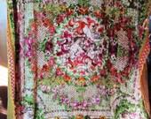 Vintage Italian Cut Chenille Fancy Tapestry Throw/Bedspread/Rug Cherubs Baroque | FREE SHIPPING