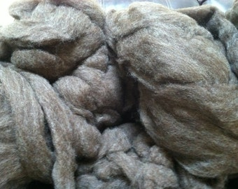 Natural Colored Romney Roving 8oz