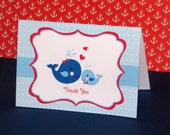 Nautical Thank You Cards - PRINTED comes with envelopes