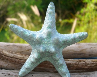 Beach Starfish Hair Clip-SEASIDE SPARKLE-Starfish Hair Accessory, Mermaids, Beach Weddings, Starfish Weddings,Destination Wedding, Beach