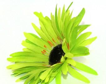 Lime Green Wild Gerbera Daisy - Artificial Flowers, Silk Flower Heads - PRE-ORDER