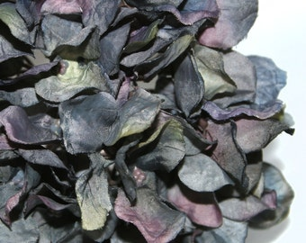 Perfect Strorm Dry Look Hydrangea Bunch - Blue Green Violet - Hydrangea Head - Artificial Flowers