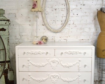 Painted Cottage Chic Shabby French Dresser DR882