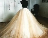 Tulle Ball Gown Convertible Bridal Skirt