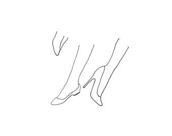 minimalist ink print: Peek I