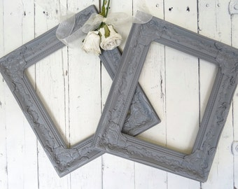 French Country Frames, Vintage Inspired Frames, Gray Frames, Fancy Ornate Frames, Shabby Chic Cottage Decor, French Country, Paris Apartment