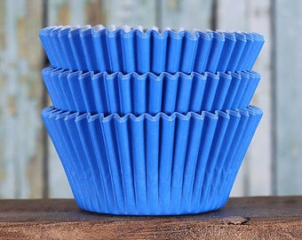 Royal Blue Cupcake Liners, BakeBright Cupcake Liners, Deep Blue Baking Cups, Cupcake Cases, Cupcake Wrappers, Wedding Cupcake Liners (60)