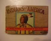 1935 Art Deco Indians of America Illustrated Whitman Book Fazzini Vintage North American