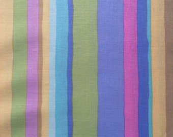 Kaffe Fassett Serape in Faded, OOP, rare, vhtf, early Westminster striped fabric, pastel
