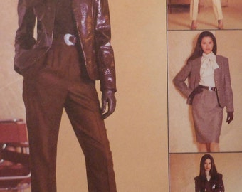 Jacket, Skirt, Blouse and Pants Sewing Pattern UNCUT McCalls 3028 Sizes 12-16