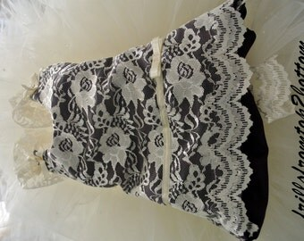 Customized Lace Overlay Flower Girl Dress . Tutu skirt . Halter Top . Select your accent color  ... sizes up to a 5T
