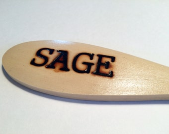 SAGE-Wooden Spoon Plant Marker