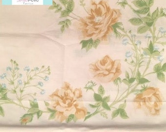 Vintage Yellow Floral Pillowcase with Ruffles