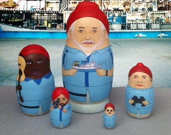 The (Mini) Life Aquatic Matryoshka Dolls