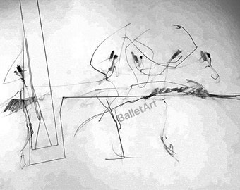 Ballet Art and Architecture, Architecture To Me, original art, pencil drawing, black and white, sketch, abstract art, line drawing, wall art