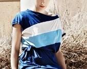 Winter Sale 15% Off!!! Color slash in blue - best seller jersey dress