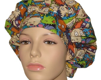 Scrub Hats - Rugrats Packed Fabric