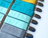 Little and Big Guy SUSPENDERS - Spring Solids - (Newborn-Adult) - Baby Boy Men - Spring Easter - Gray Aqua Mint Teal Mustard Yellow