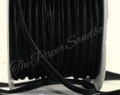 """Black Velvet Ribbon 1/8"""" wide Ribbon by the yard, DIY Weddings, Sewing, Crafts, Scrapbooking, Gift Wrap, Invitations, Trim, Party Supplies"""