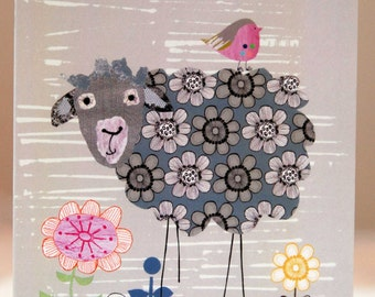 The Floral Sheep Greeting Card