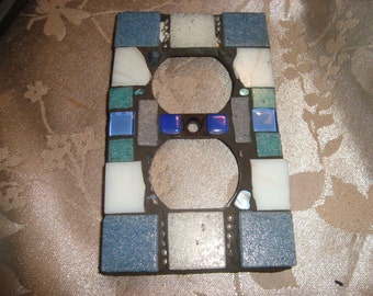 MOSAIC Electrical Outlet COVER,  White, Blue, Gray