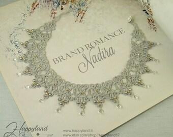 Nadira , needle tatted collar pattern