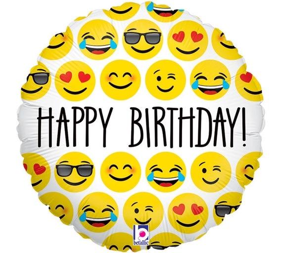 Emoji Balloons, Emotion Balloons, HAPPY BIRTHDAY Emoji