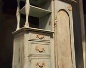 Reserved for Mahlu L - Antiqued Grey Dresser
