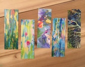 Set of 5 Bookmarks Featuring Paintings by Bend, Oregon Artist, MaryLea Harris