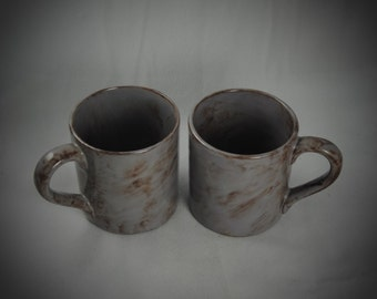 Set of two 12 ounce ceramic mugs