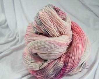Merino Superwash Sock Yarn, Rose Quartz, Hand Dyed