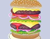 Fine art print -- printed to order -- The Big Burger
