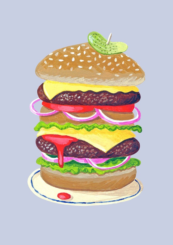 Fine art print -- printed to order -- The Big Burger