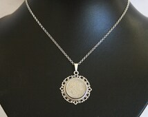 1967 birthday gift. Lucky Sixpence necklace. 1967 jewelry gift. 49th birthday gift, 49th birthday ideas,. 49th birthday gifts for women