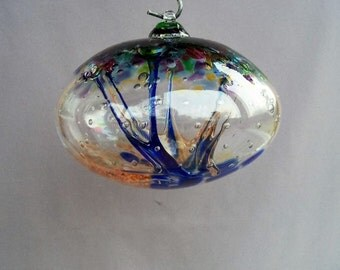 Hand Blown Art Glass Witch Ball/Ornament/Suncatcher - Orb, Mix of Colors