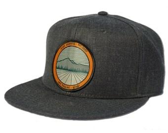 Tallac Mountain Snapback Hat - Heather Black