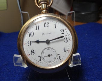 Howard 16 Size 17 Jewels Pocket Watch-Keeping Good Time