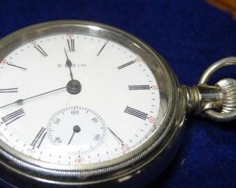 Vintage Elgin Hunting Movement Pocket Watch