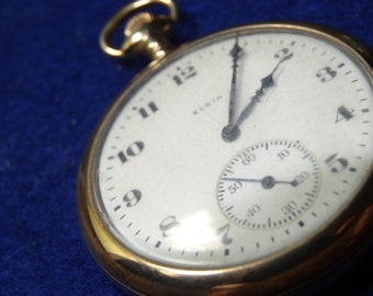 Vintage Elgin 12 Size 17 Jewels Pocket Watch