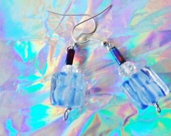Frozen inspired Ice Cube Ice inspired earrings